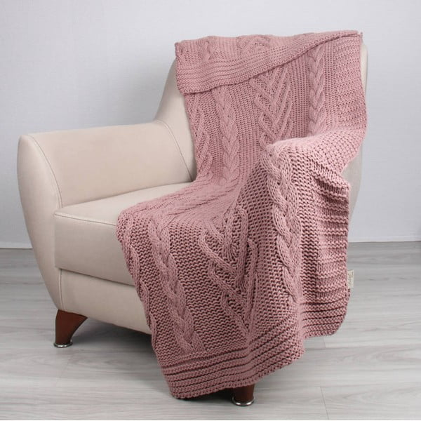 Różowy koc Homemania Tuti, 170x130 cm
