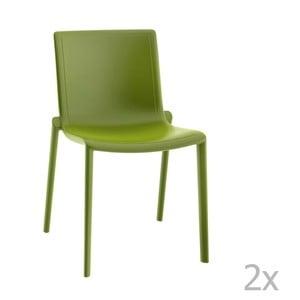 Zestaw 2 zielonych krzeseł ogrodowych Resol Kat