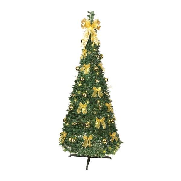 Świecąca dekoracja Gold Christmas, 190 cm