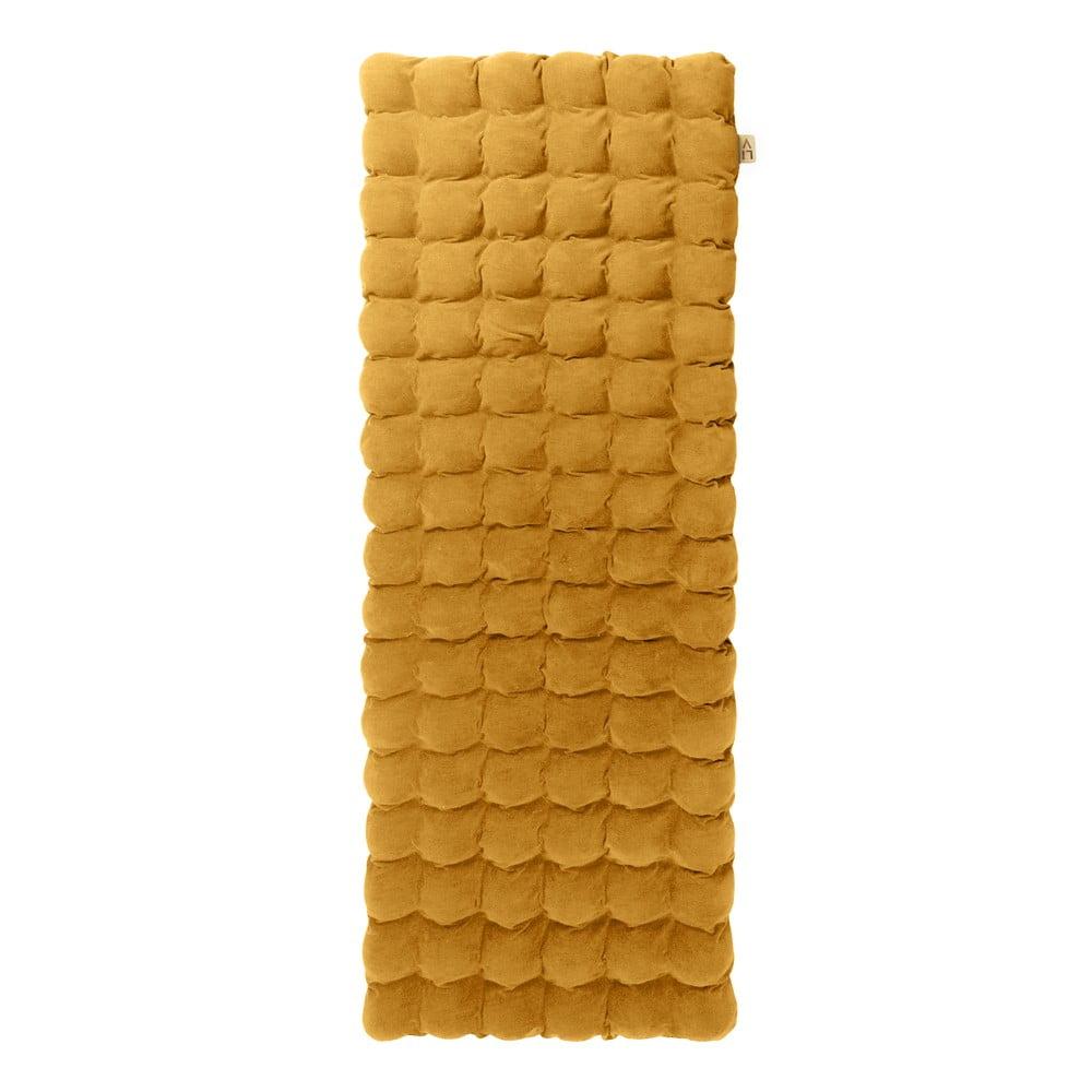 Musztardowy relaksacyjny materac Linda Vrňáková Bubbles, 65x200 cm