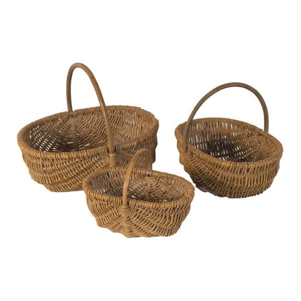 Zestaw 3 koszyków wiklinowych Antic Line Baskets