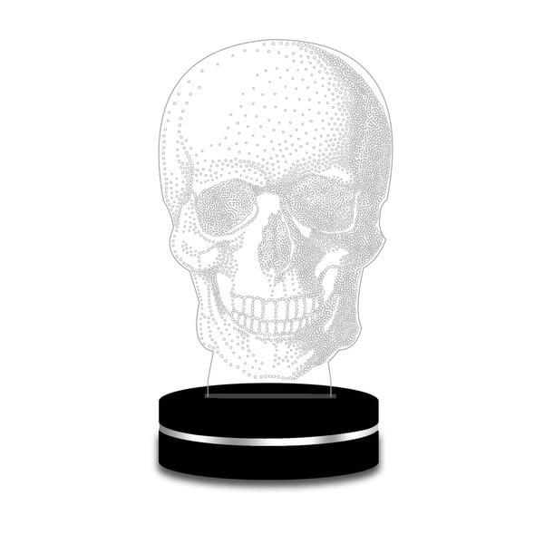 Lampa z efektem 3D Modern Skull