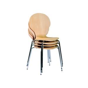 Zestaw 4 krzeseł do jadalni Mika