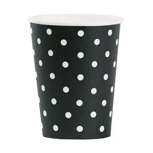 Komplet papierowych kubeczków White Dots, 8 szt.