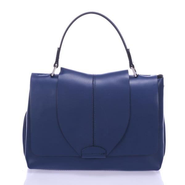 Niebieska torebka skórzana Giorgio Costa Mijoria
