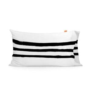 Zestaw 2 bawełnianych poszewek na poduszki Blanc Stripes, 50x80cm