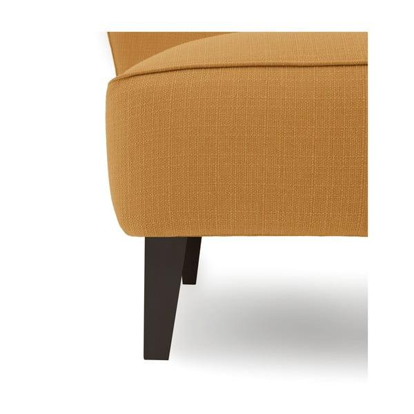 Miodowy fotel z ciemnymi nogami Vivonita Sandy