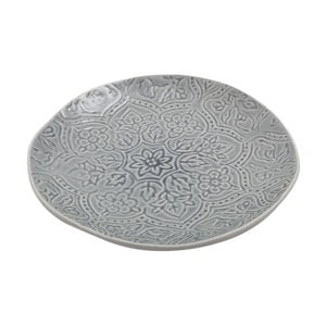 Ceramiczny talerz Botanic Dusty Blue, 28 cm
