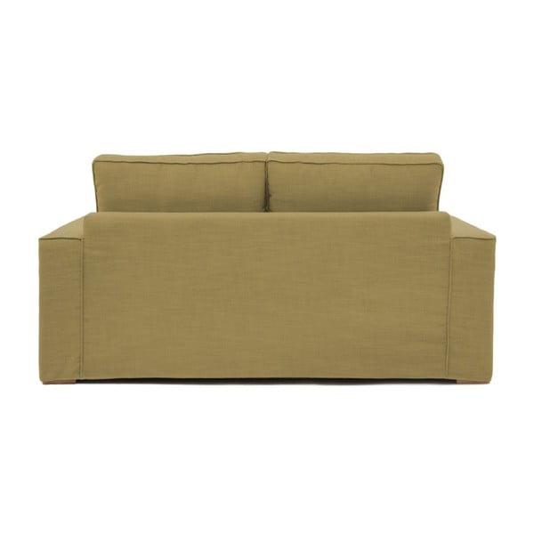 Musztardowa sofa trzyosobowa Vivonita Jane