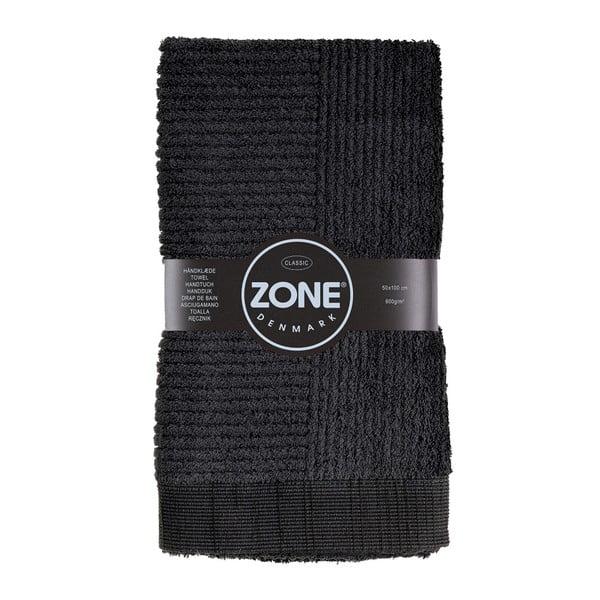 Czarny ręcznik Zone, 100x50 cm
