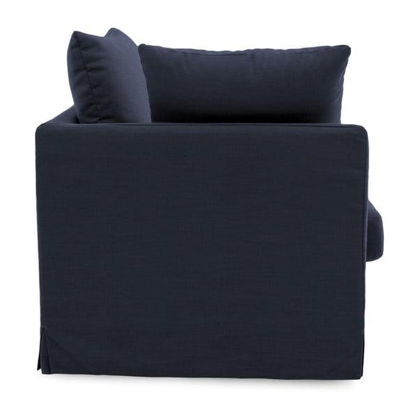 Granatowa sofa trzyosobowa Vivonita Coraly