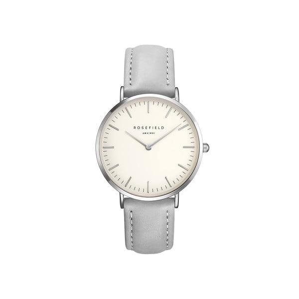 Biało-szary zegarek damski Rosefield The Bowery