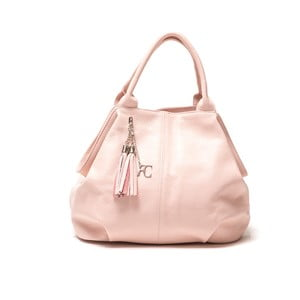 Skórzana torebka Renata Corsi 1076, różowa