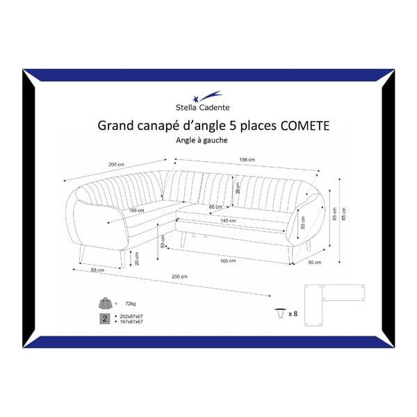 Narożnik lewostronny Comete Grand Anthracite