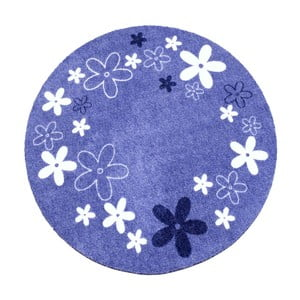 Dywan Deko - fioletowy w kwiaty, 100 cm