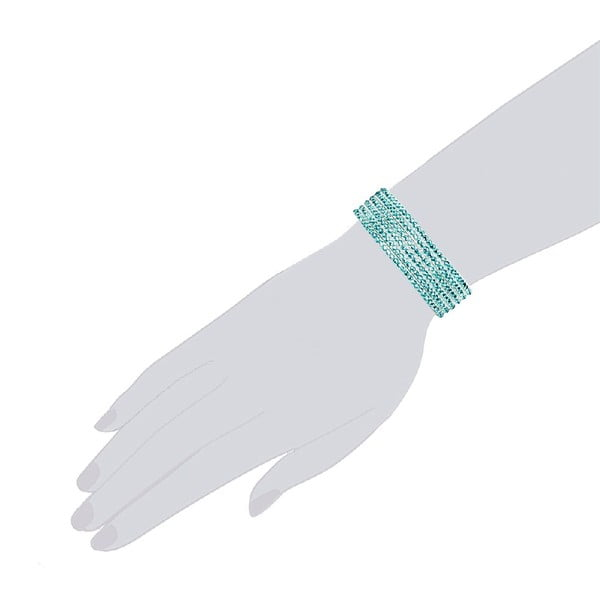 Bransoletka Simply Aqua, 19 cm