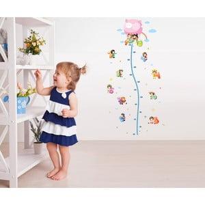 Naklejka z miarką wzrostu Fanastick Balloon with Little Kids