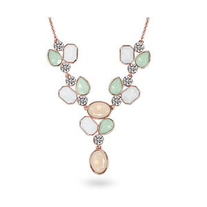 Naszyjnik ze Swarovski Elements Stone Orange/Green/White