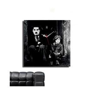 Obraz z zegarem Charlie Chaplin