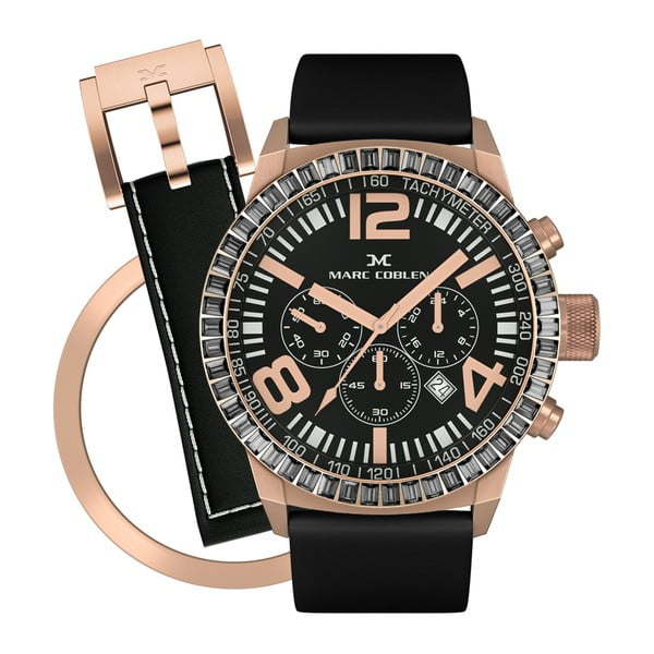 Zegarek damski Marc Coblen z dodatkowym paskiem i obręczą P112