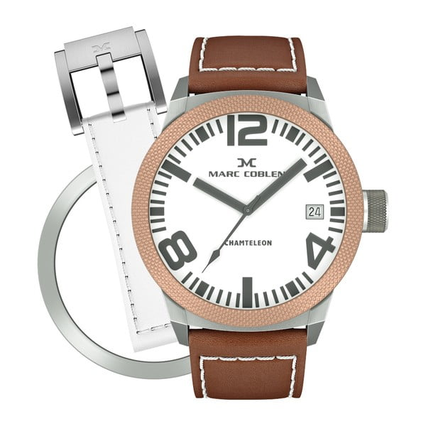 Zegarek damski Marc Coblen z dodatkowym paskiem i obręczą P75