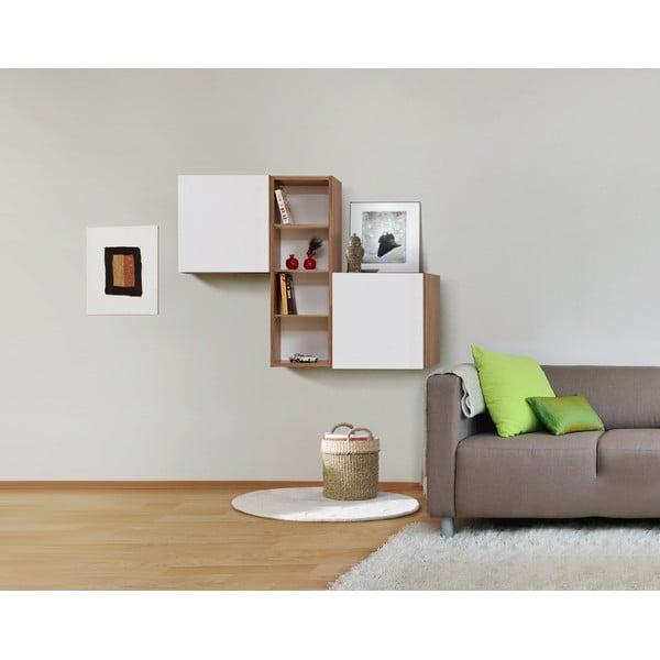 Półki ścienne Decoflex Kenyap, białe/samba