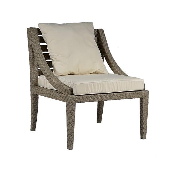 Fotel ogrodowy z podkładką Franzo Ecru