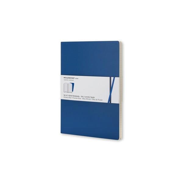 Zestaw 2 notesów  Moleskine Antwerp Blue, w linie 9x14 cm