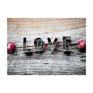 Obraz z zegarem Love, 29x40 cm