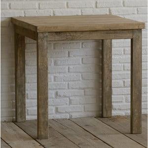 Stolik z drewna pozyskanego z recyklingu Old Wood, 80x80cm