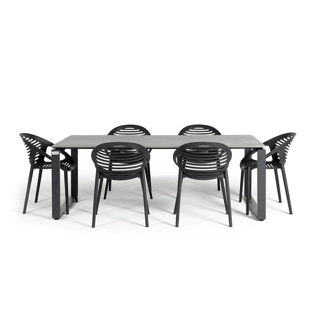 Zestaw mebli ogrodowych z 6 krzesłami Le Bonom Joanna Strong