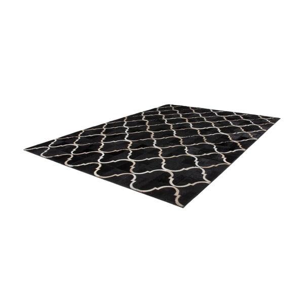 Dywan skórzany Eclipse Black, 160x230 cm