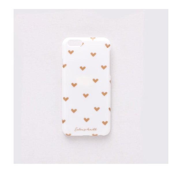 Etui na iPhone 6 Goldene Herzchen
