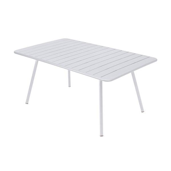 Biały stół metalowy Fermob Luxembourg