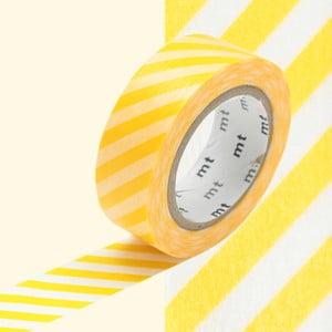 Taśma dekoracyjna washi Stripe Yellow