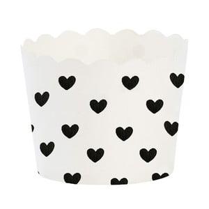 Papierowe foremki na muffiny Black Heart, 24 szt.
