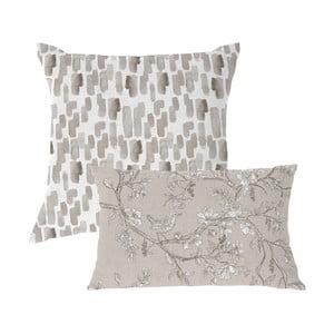 Zestaw 2 poszewek bawełnianych na poduszkę Ethere Chiserie Gris