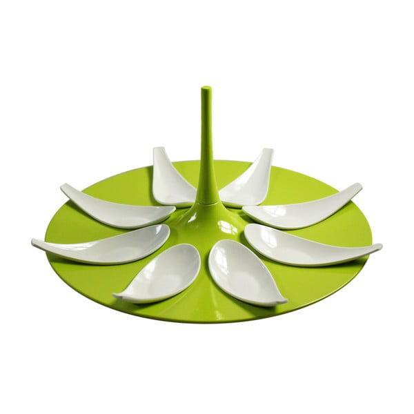 Zestaw do serwowania przekąsek Entity Green/White
