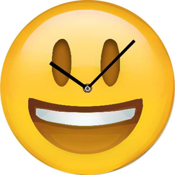 Szklany zegar Smile, 30 cm
