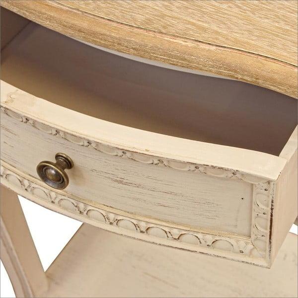 Szafka nocna z konstrukcją z drewna paulowni z zásuvkou Bizzotto Clarisz