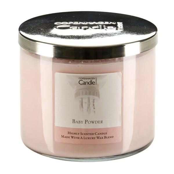 Świeczka zapachowa o zapachu pudru dziecięcego Copenhagen Candles Baby Powder, czas palenia 50 godz.