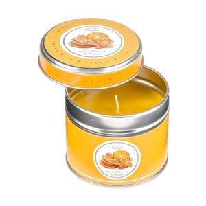 Świeczka zapachowa w puszce Sweet Orange&Amber, czas palenia 32 godziny