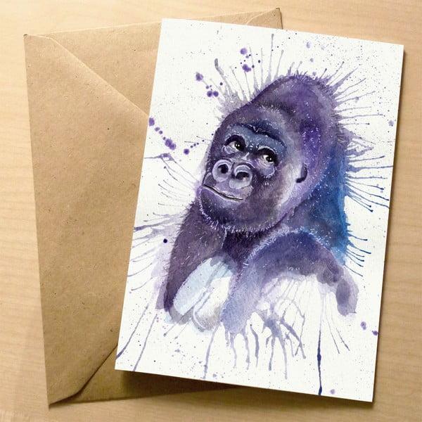 Kartka okolicznościowa Wraptious Splatter Gorilla