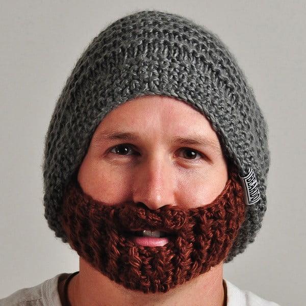 Czapka Beardo Original z odpinaną brodą, szara
