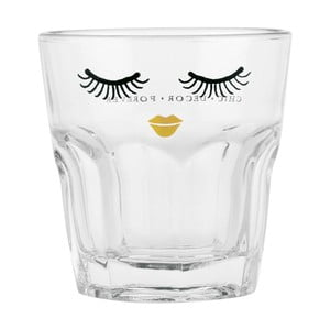 Szklanka Miss Étoile Clozd Eyes Gold Lips, 9 cm