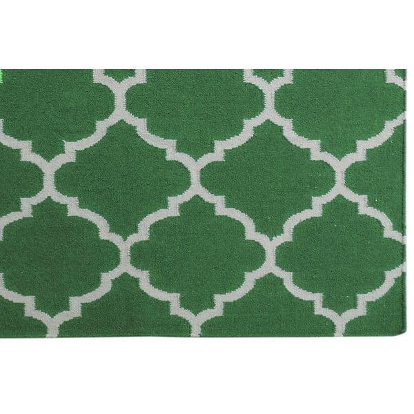 Zielony dywan wełniany Bakero Elizabeth, 200x140cm