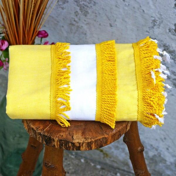 Ręcznik hamam Peshtemal Yellow, 100x180 cm