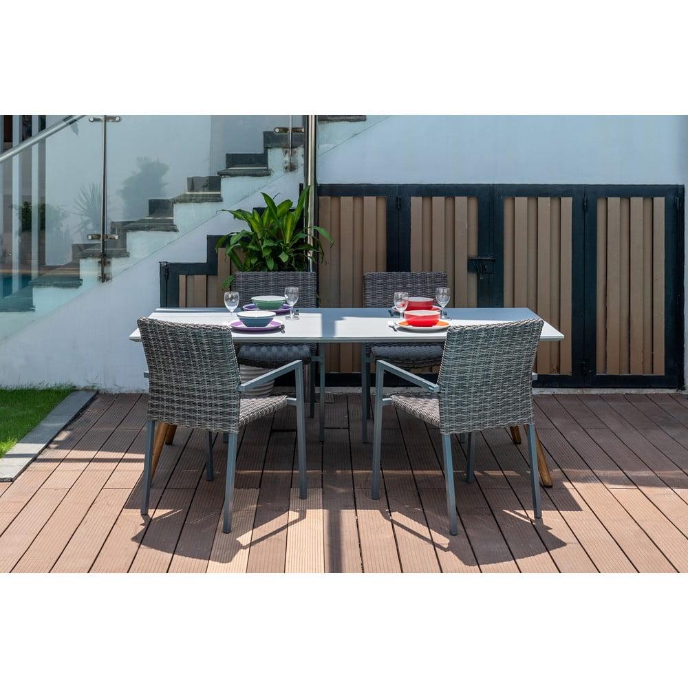 Zestaw 4 krzeseł ogrodowych i stołu Ezeis Clipper