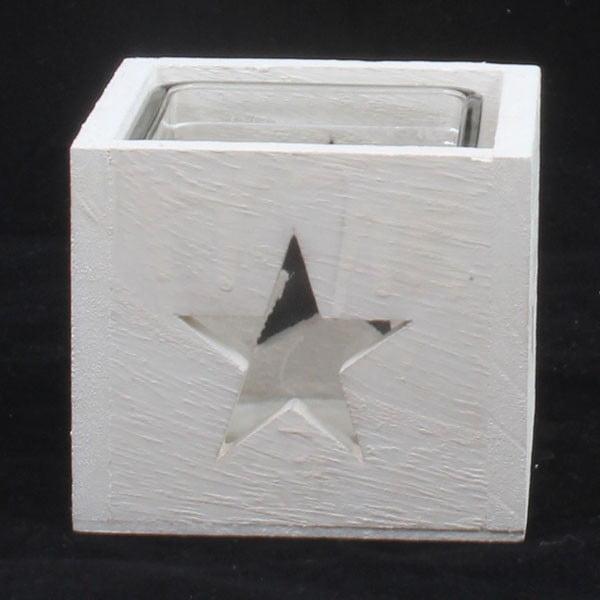 Drewniany świecznik gwiazda Dakls