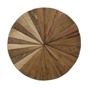 Drewniana dekoracja ścienna HSM Collection Sun, Ø 60 cm